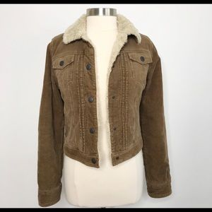 Vintage Abercrombie & Fitch Corduroy Sherpa Jacket